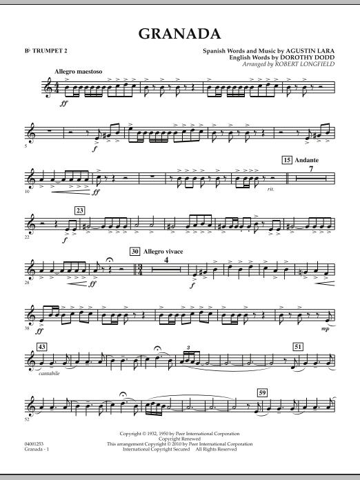 Granada - Bb Trumpet 2 (Concert Band)