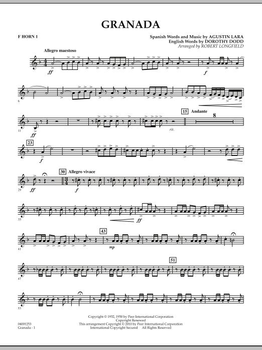Granada - F Horn 1 (Concert Band)