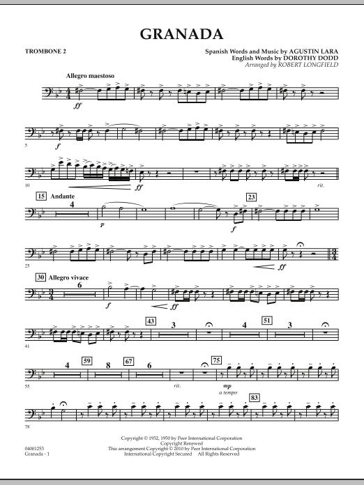 Granada - Trombone 2 (Concert Band)