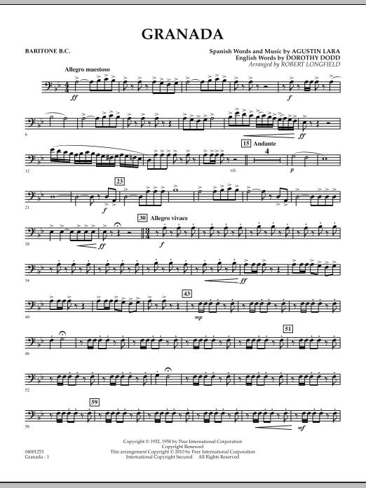 Granada - Baritone B.C. (Concert Band)