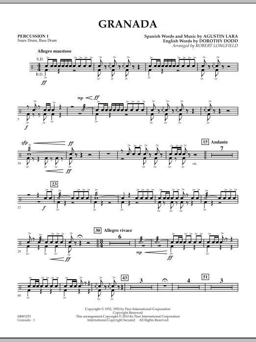 Granada - Percussion 1 (Concert Band)