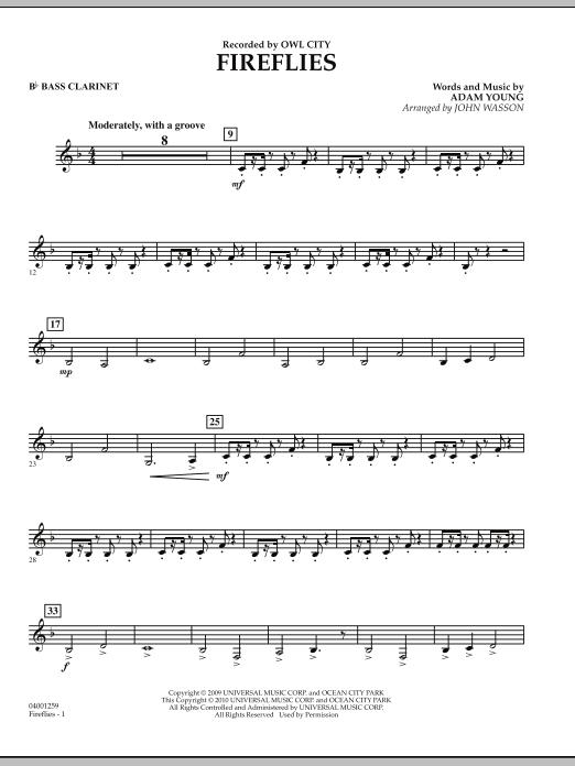 Fireflies - Bb Bass Clarinet (Concert Band)