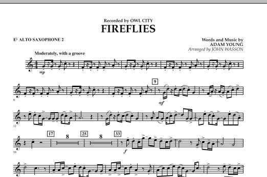 Fireflies - Eb Alto Saxophone 2 (Concert Band)