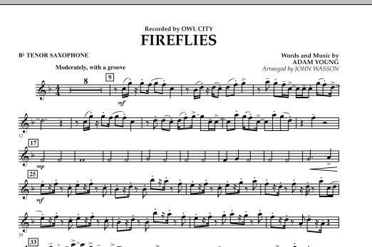 Fireflies - Bb Tenor Saxophone (Concert Band)