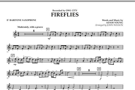 Fireflies - Eb Baritone Saxophone (Concert Band)