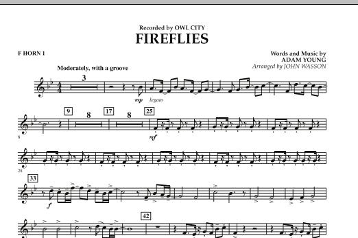 Fireflies - F Horn 1 (Concert Band)
