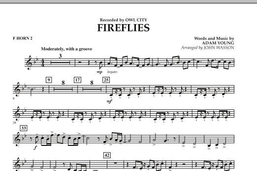 Fireflies - F Horn 2 (Concert Band)
