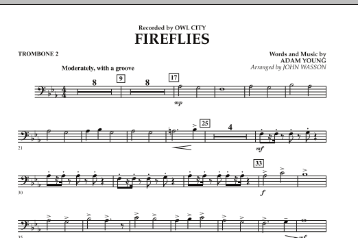 Fireflies - Trombone 2 (Concert Band)
