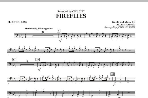 Fireflies - Electric Bass (Concert Band)