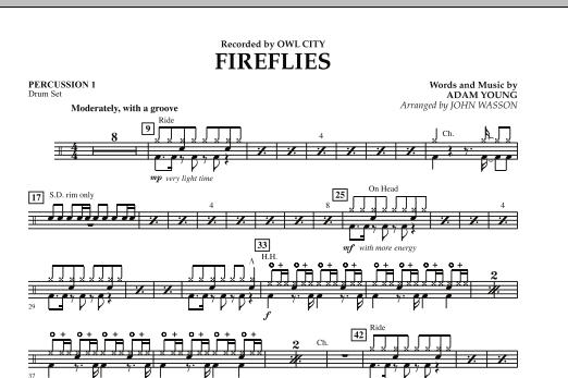 Fireflies - Percussion 1 (Concert Band)