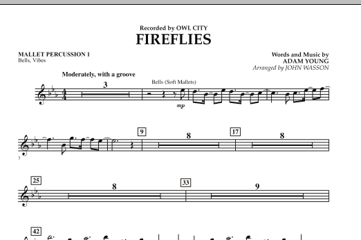 Fireflies - Mallet Percussion 1 (Concert Band)