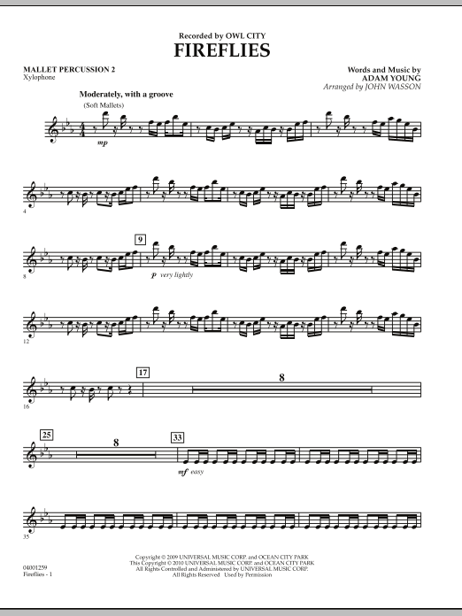 Fireflies - Mallet Percussion 2 (Concert Band)