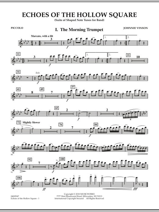 Echoes Of The Hollow Square - Piccolo (Concert Band)
