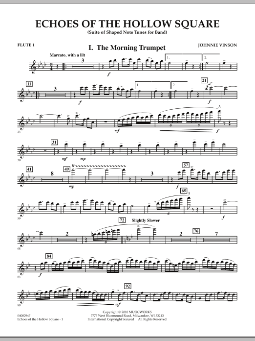 Echoes Of The Hollow Square - Flute 1 (Concert Band)