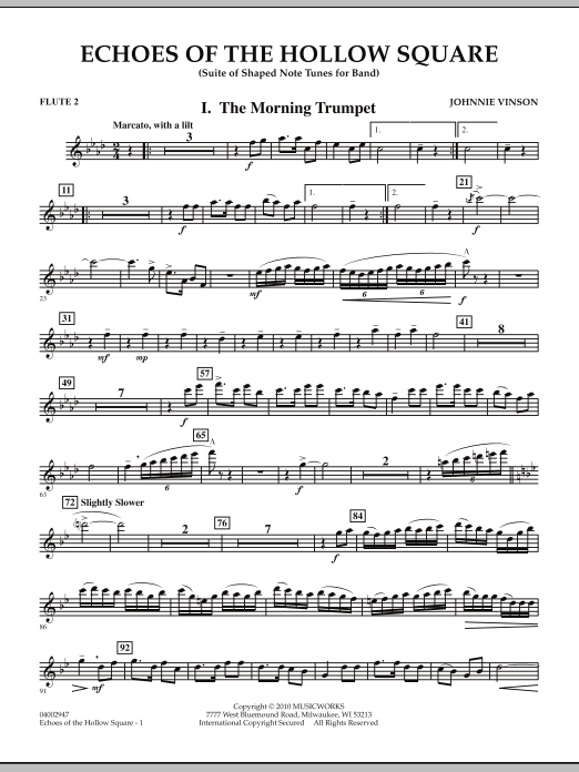Echoes Of The Hollow Square - Flute 2 (Concert Band)
