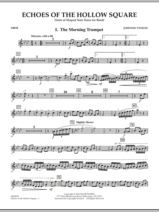 Echoes Of The Hollow Square - Oboe (Concert Band)