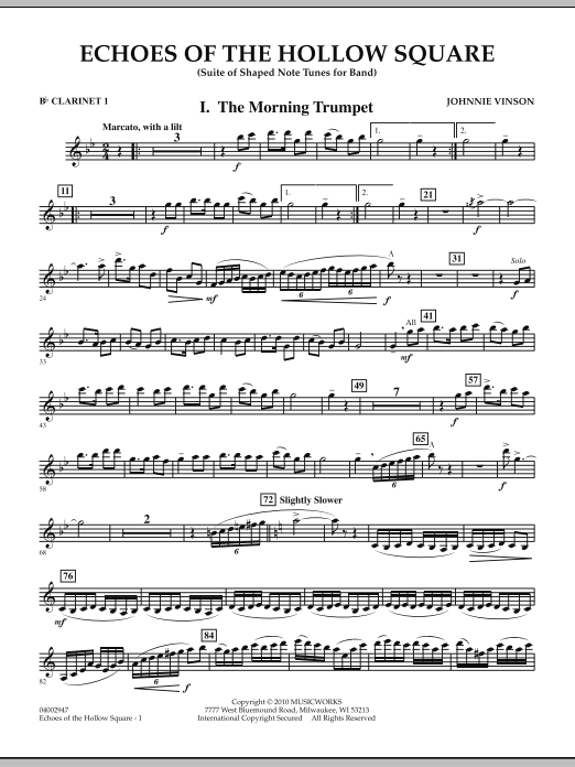 Echoes Of The Hollow Square - Bb Clarinet 1 (Concert Band)