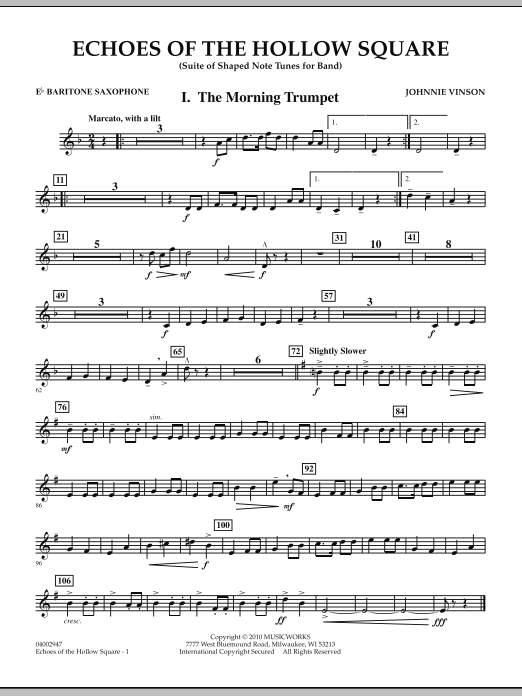 Echoes Of The Hollow Square - Eb Baritone Saxophone (Concert Band)
