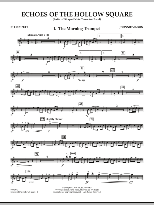 Echoes Of The Hollow Square - Bb Trumpet 1 (Concert Band)