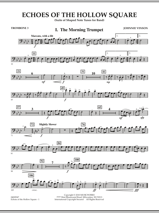 Echoes Of The Hollow Square - Trombone 3 (Concert Band)