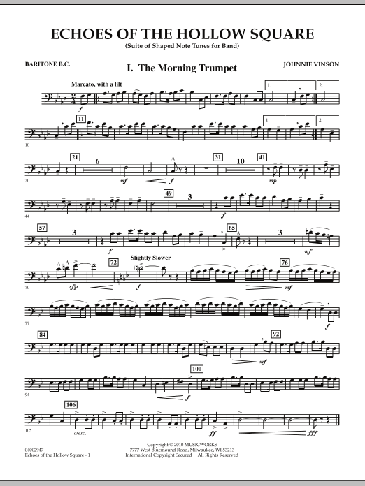 Echoes Of The Hollow Square - Baritone B.C. (Concert Band)