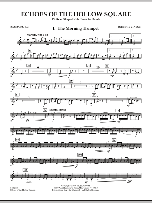 Echoes Of The Hollow Square - Baritone T.C. (Concert Band)