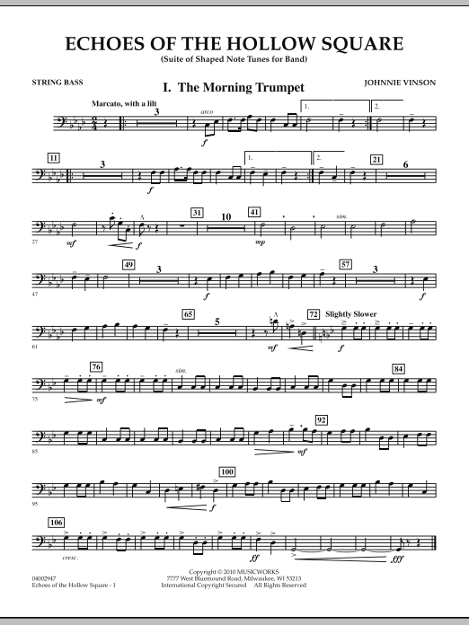 Echoes Of The Hollow Square - String Bass (Concert Band)