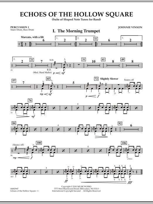 Echoes Of The Hollow Square - Percussion 1 (Concert Band)