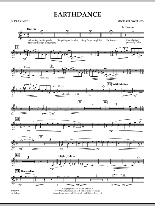 Earthdance - Bb Clarinet 1 (Concert Band)