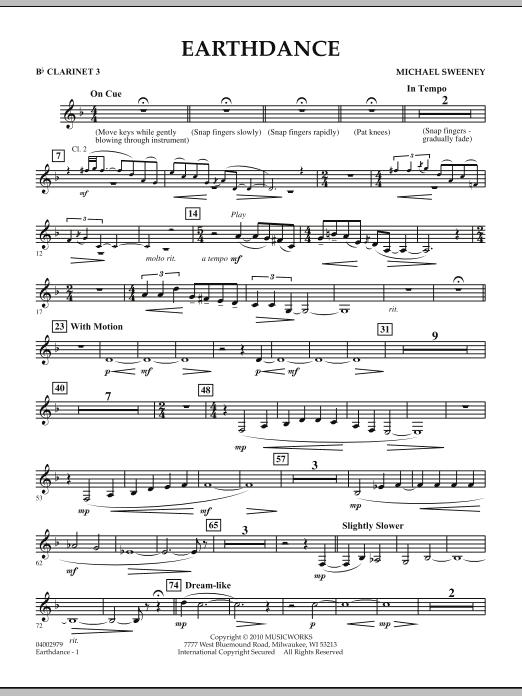 Earthdance - Bb Clarinet 3 (Concert Band)
