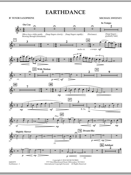 Earthdance - Bb Tenor Saxophone (Concert Band)