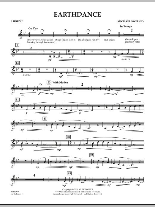 Earthdance - F Horn 2 (Concert Band)