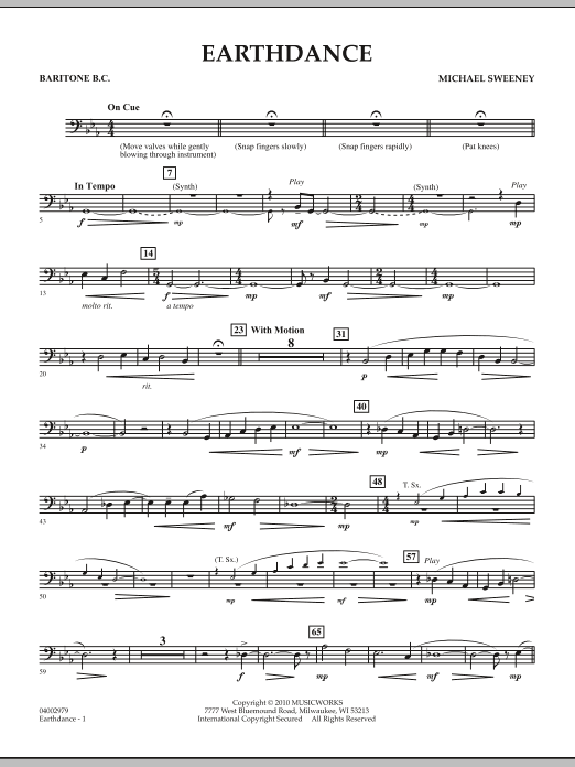 Earthdance - Baritone B.C. (Concert Band)