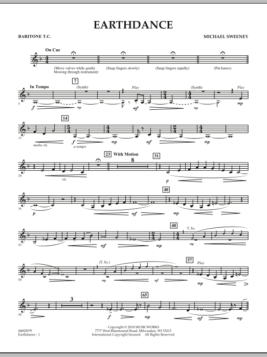 Earthdance - Baritone T.C. (Concert Band)