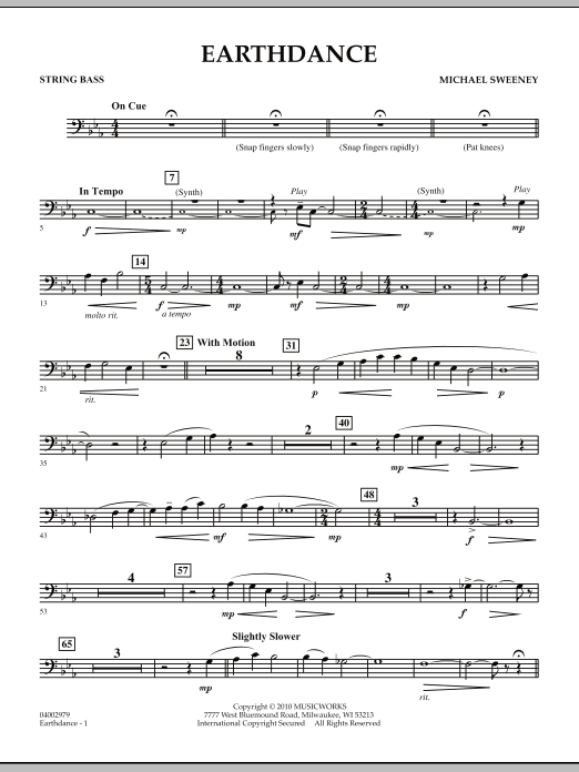Earthdance - String Bass (Concert Band)
