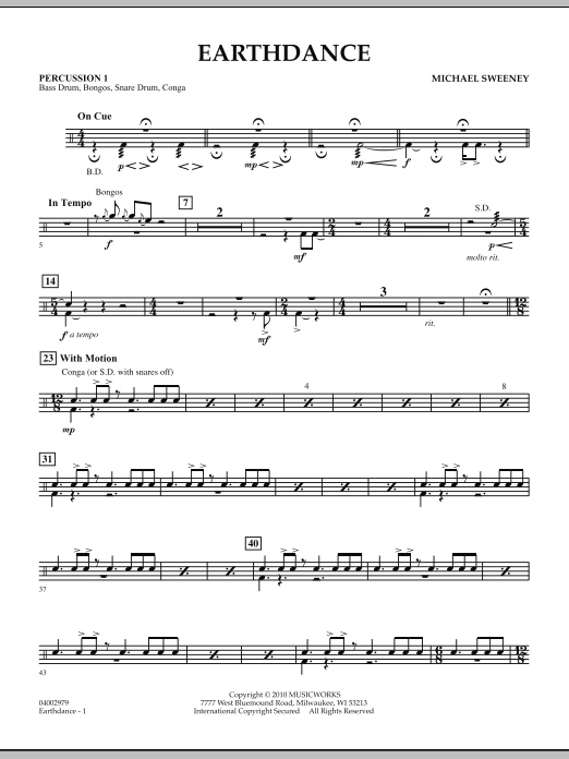 Earthdance - Percussion 1 (Concert Band)