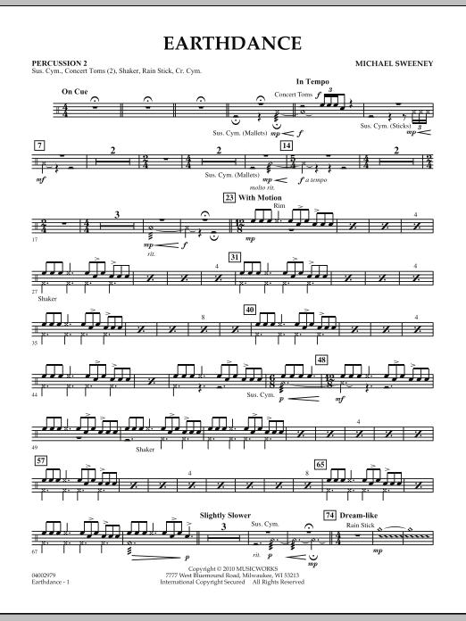 Earthdance - Percussion 2 (Concert Band)