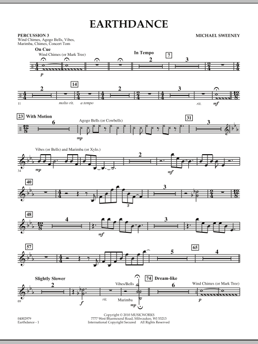 Earthdance - Percussion 3 (Concert Band)