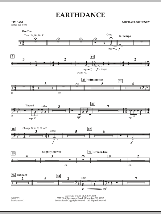 Earthdance - Timpani (Concert Band)
