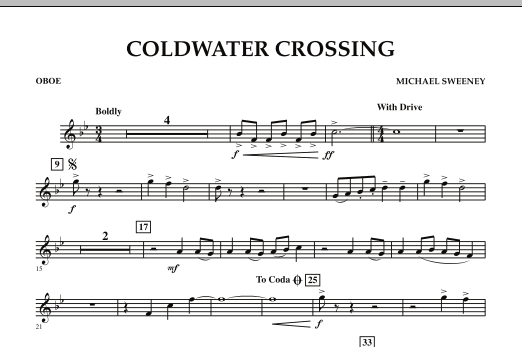 Coldwater Crossing - Oboe (Concert Band)