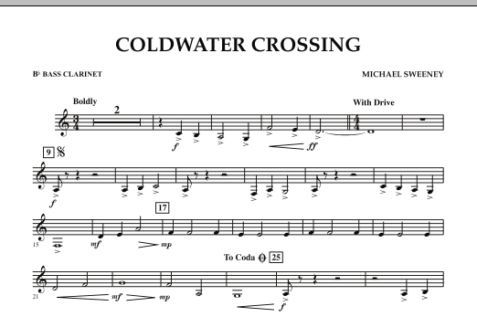 Coldwater Crossing - Bb Bass Clarinet (Concert Band)