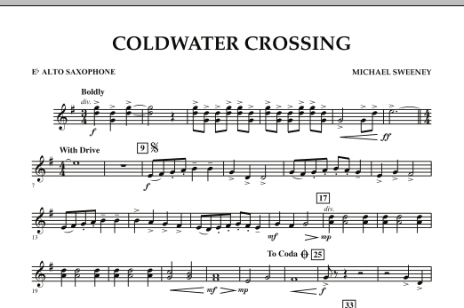Coldwater Crossing - Eb Alto Saxophone (Concert Band)