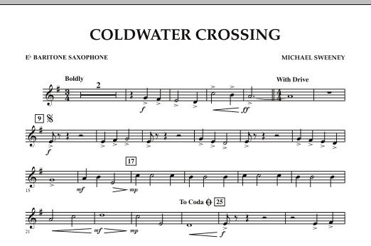 Coldwater Crossing - Eb Baritone Saxophone (Concert Band)