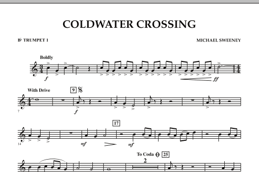 page one of Coldwater Crossing - Bb Trumpet 1ASALTTEXT