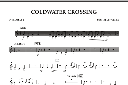 page one of Coldwater Crossing - Bb Trumpet 2ASALTTEXT