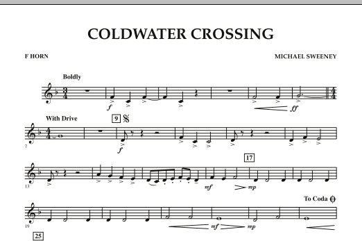 Coldwater Crossing - F Horn (Concert Band)