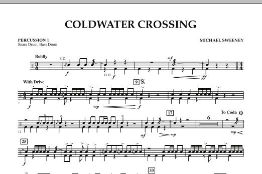 Coldwater Crossing - Percussion 1 (Concert Band)