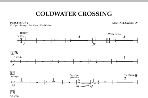 Coldwater Crossing - Percussion 2 (Concert Band)