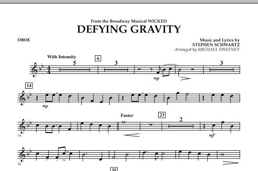 Defying Gravity (from Wicked) - Oboe Partituras Digitales