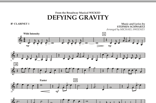 Defying Gravity (from Wicked) - Bb Clarinet 1 (Concert Band)